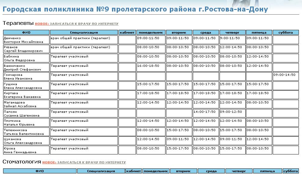 Регистратура шумерлинской городской больницы
